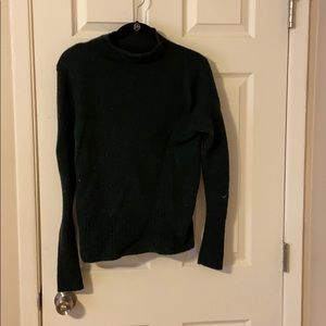 Forest green mock neck sweater